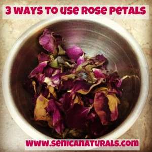3 ways to use rose petals