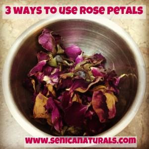 3 ways to use rose petals