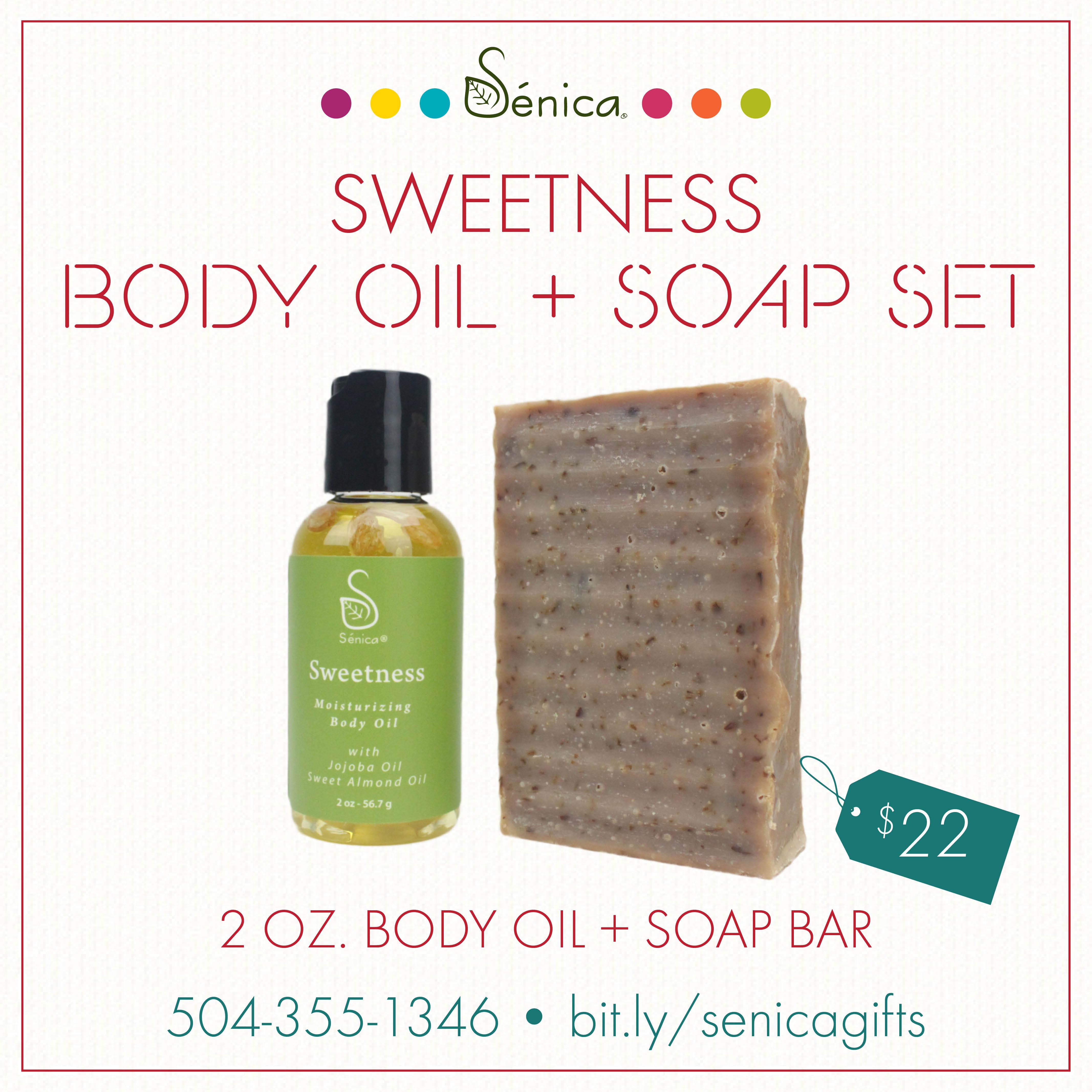 Gallery - Sweetness Body Oil & Soap Set