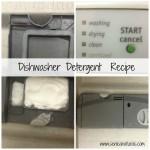 Dishwasher detergent collage with text