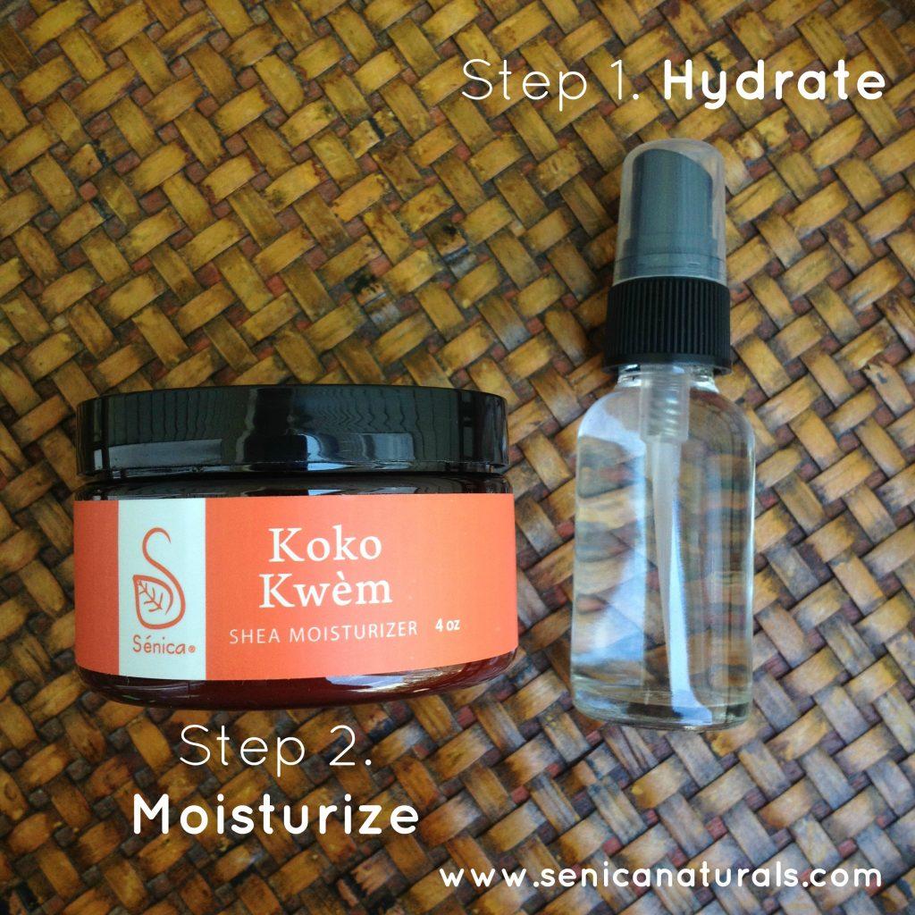 Hydrate your skin and follow with a water free moisturizer to keep eczema skin moisturized.